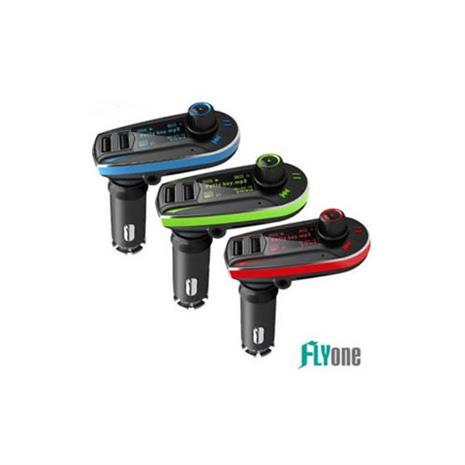 【古早音響升級款】FLYone FM-W6 車用免持/藍芽轉FM音樂傳輸/MP3音樂播放器