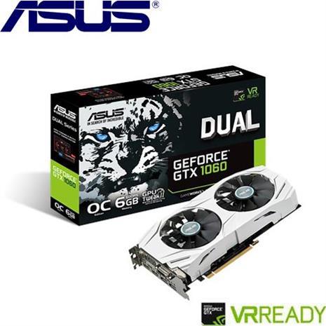 ASUS華碩 GeForceR DUAL-GTX1060-O6G-GAMING 顯示卡