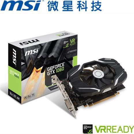 MSI微星 GeForceR GTX 1060 3G OCV1 顯示卡-數位筆電.列印.DIY-myfone購物