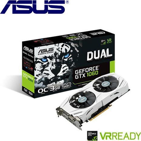 ASUS華碩 GeForceR DUAL-GTX1060-O3G-GAMING 顯示卡
