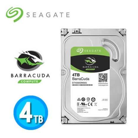Seagate BarraCuda HDD 3.5吋 SATA3 4TB 桌上型硬碟