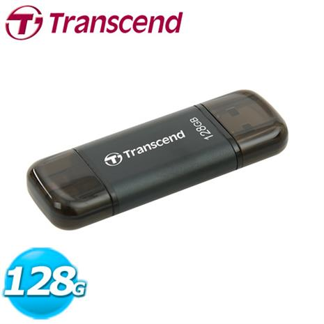 Transcend 創見 JetDrive Go 300 iOS OTG 128G USB3.1 (魔幻黑)