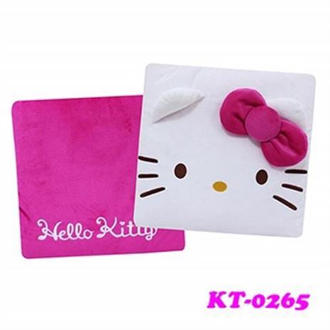 【預購】Hello Kitty 臉型兩用抱枕被 KT-0265