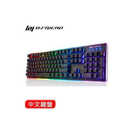 B.Friend GK3st RGB炫光有線遊戲鍵盤 黑
