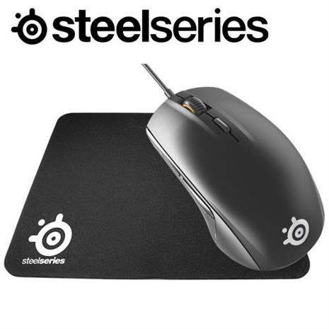 SteelSeries 賽睿 Rival 95 電競滑鼠 黑 + Qck mini 滑鼠墊 組合包