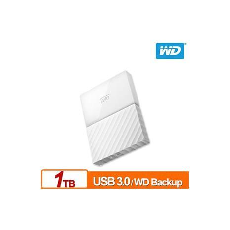 WD My Passport 1TB(白) 2.5吋行動硬碟(WESN)