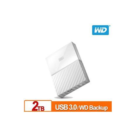 WD My Passport 2TB(白) 2.5吋行動硬碟(WESN)