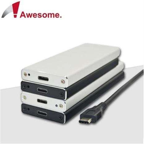 Awesome USB3.1 TO NGFF 硬碟外接盒 –AWE-SSDNG31HS(銀)