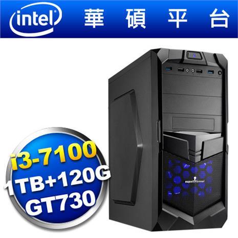 【2月精選-送好禮】華碩B150平台【狙擊神兵】i3雙核GT730獨顯SSD電玩機-數位筆電.列印.DIY-myfone購物