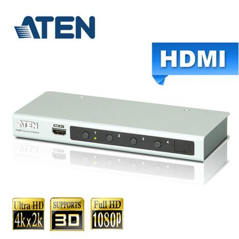 ATEN宏正 4埠 HDMI 影音切換器4K2K(VS481B)-家電.影音-myfone購物
