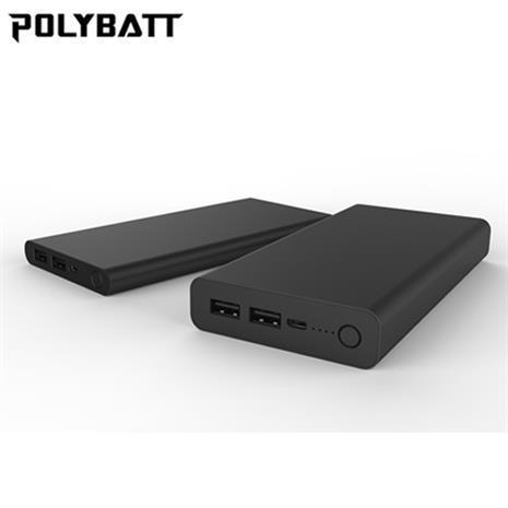 POLYBATT 24000mAh 超大容量 行動電源 黑色