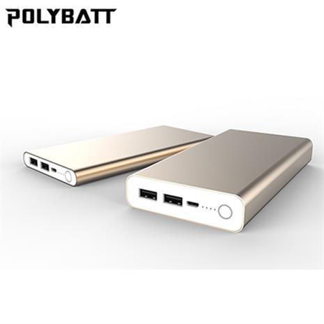 POLYBATT 24000mAh 超大容量 行動電源 土豪金