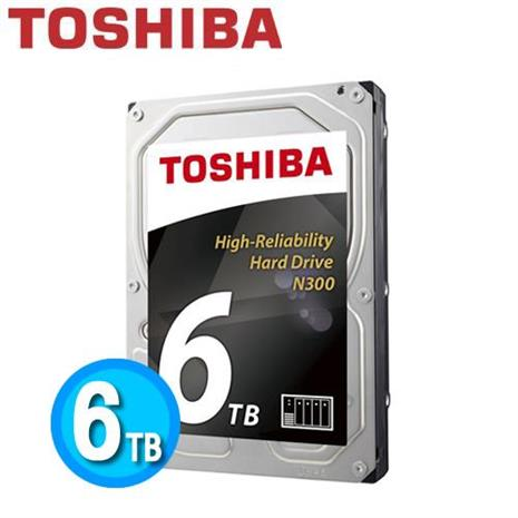 Toshiba N300 3.5吋 6TB NAS 專用硬碟 HDWN160AZSTA