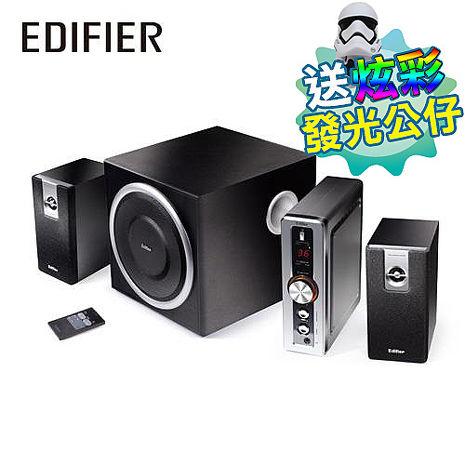 【5月精選-送發光公仔】Edifier漫步者 C2 2.1聲道電腦喇叭 (遙控器)