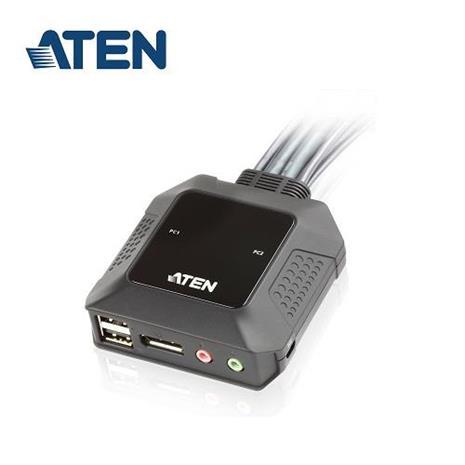 ATEN CS22DP 2埠帶線式DisplayPort切換器