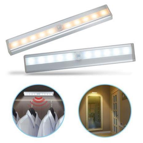 智能LED 磁吸式薄型迷你感應燈白光(電池式)