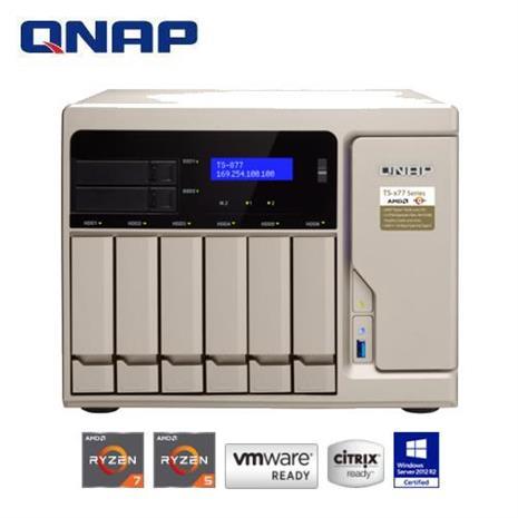 QNAP 威聯通 TS-877-1700-16G 8Bay網路儲存伺服器