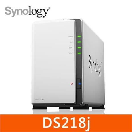 Synology 群暉科技 DS218j 2Bay 網路儲存伺服器