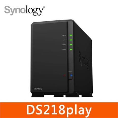 Synology DS218play 2Bay 網路儲存伺服器