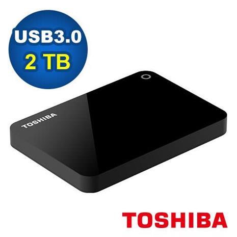 Toshiba 2.5吋 V9 2TB USB3.0 外接式硬碟 黑