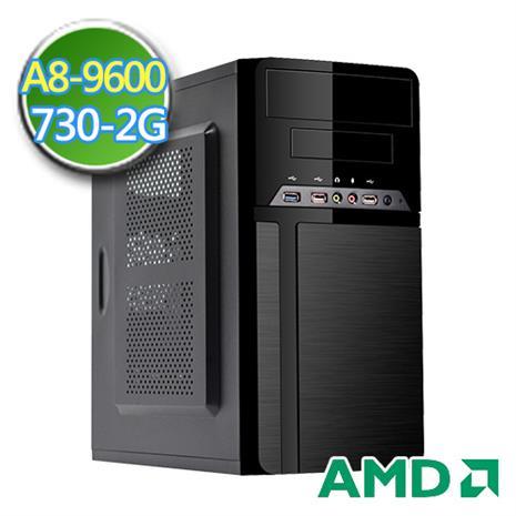 技嘉A320平台【黑翼墮天】AMD APU 四核 GT730-2G獨顯 1TB效能電腦