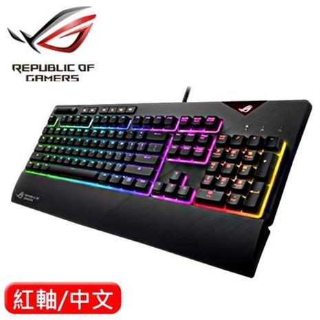ASUS 華碩 Strix Flare RGB 機械電競鍵盤 Cherry MX  紅軸 中文