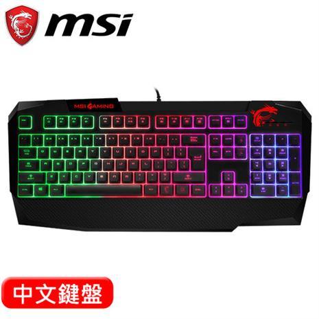 MSI 微星 Vigor GK40 類機械電競鍵盤 中文