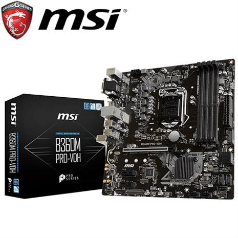 MSI微星 B360M PRO-VDH 主機板