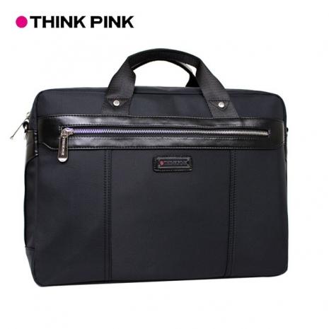【THINK PINK】曙光系列 穩重典雅 兩用公事包 - 黑色