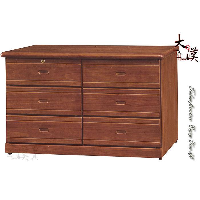 柚木4.3尺六斗櫃