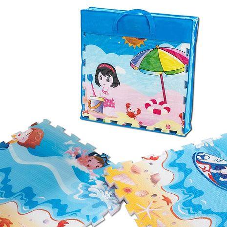 【BabyTiger虎兒寶】EPE 雙面環保遊戲巧拼式地墊 (加厚版 2cm ) 夢幻王國+小火車款-特賣