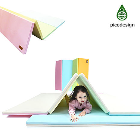 【BabyTiger虎兒寶】Pico design 皮可設計無毒地墊 - 中 -馬卡龍 四色墊 遊戲爬行地墊