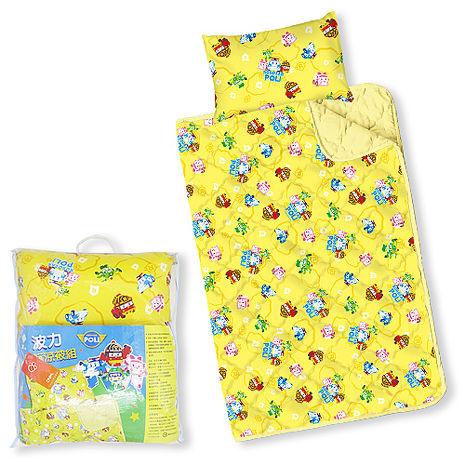 【Babytiger虎兒寶】MIT台灣製卡通圖案幼教兒童枕頭+棉被組 - POLI 救援小英雄 波力 ROBOCAR