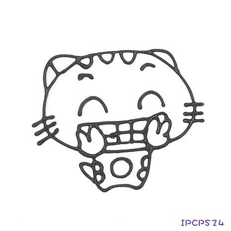 【BabyTiger虎兒寶】MIT兒童無毒DIY彩繪玻璃貼 -配件 小張圖卡-開心貓