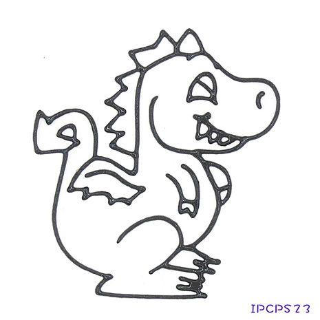 【BabyTiger虎兒寶】MIT兒童無毒DIY彩繪玻璃貼 -配件 小張圖卡-恐龍