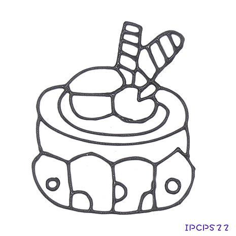 【BabyTiger虎兒寶】MIT兒童無毒DIY彩繪玻璃貼 -配件 小張圖卡-蛋糕