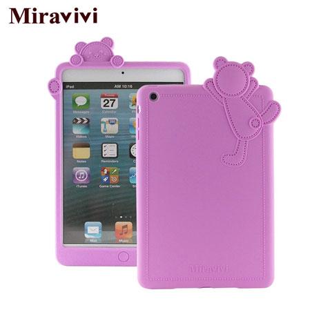 Miravivi iPad mini 動物狂想曲系列立體熊保護套-浪漫紫