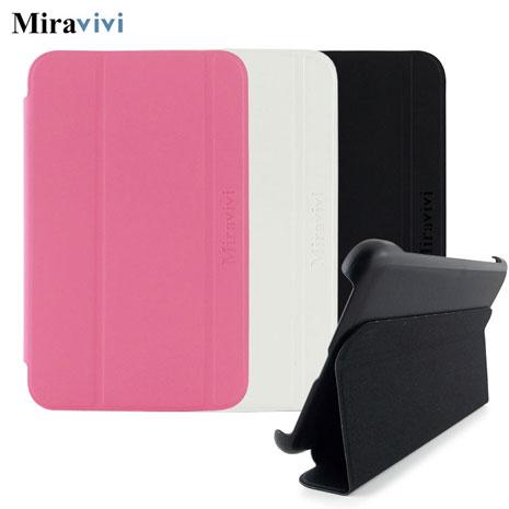 Miravivi Samsung Galaxy Tab3 7.0吋經典三折薄型側立皮套甜美粉