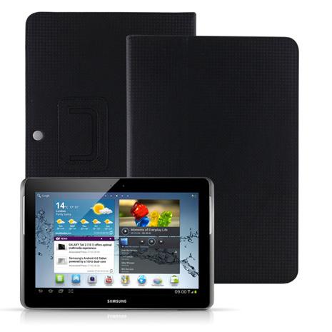 Miravivi Samsung Galaxy Tab2 10.1吋筆記本皮套-黑-手機平板配件-myfone購物