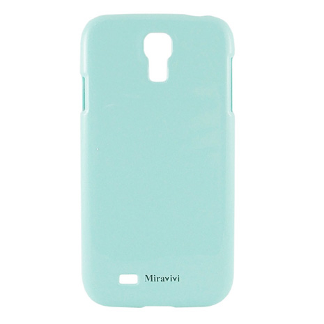 Miravivi Samsung Galaxy S4 i9500 粉嫩色系時尚保護彩殼-粉藍