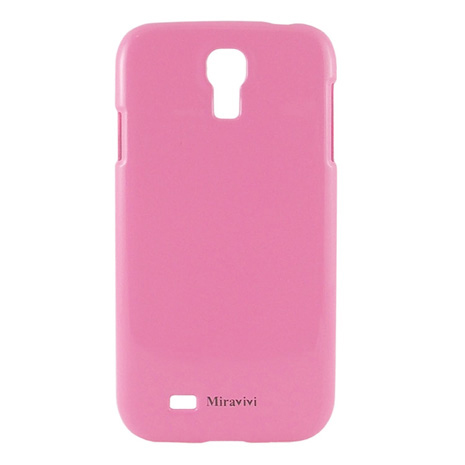 Miravivi Samsung Galaxy S4 i9500 粉嫩色系時尚保護彩殼-桃紅
