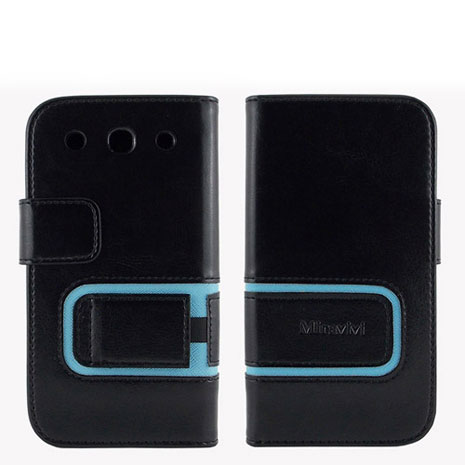 Miravivi LG Optimus G Pro E988 悠系列立架式筆記本皮套-時尚黑