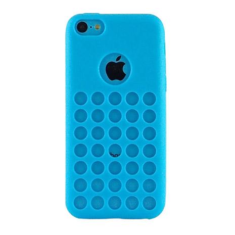 Miravivi iPhone 5C 可愛繽紛糖果色系洞洞保護套-水漾藍