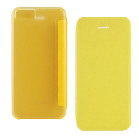 Miravivi iPhone 5c 繽紛糖果色薄型側開皮套-活力黃
