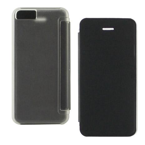 Miravivi iPhone 5c 繽紛糖果色薄型側開皮套-時尚黑