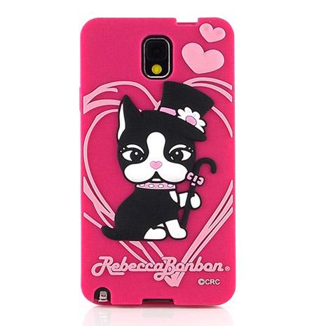 【Rebecca Bonbon】Samsung note3 可愛爵士甜心2D立體保護套