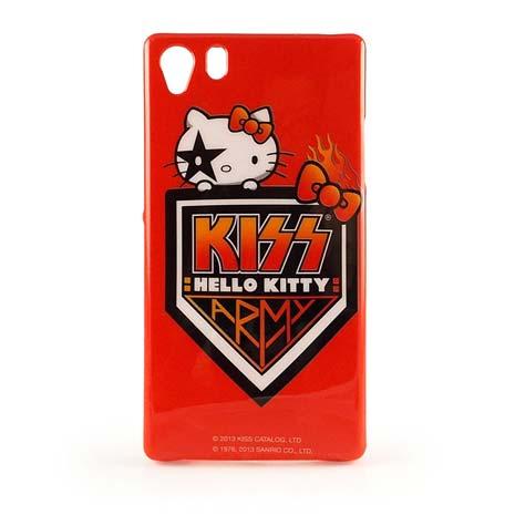 【KISS HELLO KITTY 】SONY XPERIA Z1 繽紛彩繪保護套-盾牌徽章
