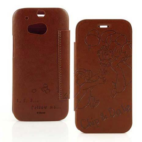 Disney HTC One (M8) Chip n Dale奇奇蒂蒂時尚壓紋皮套