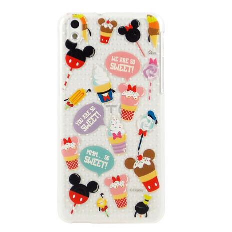 Disney HTC Desire 816 彩繪可愛風透明保護殼-糖果冰淇淋