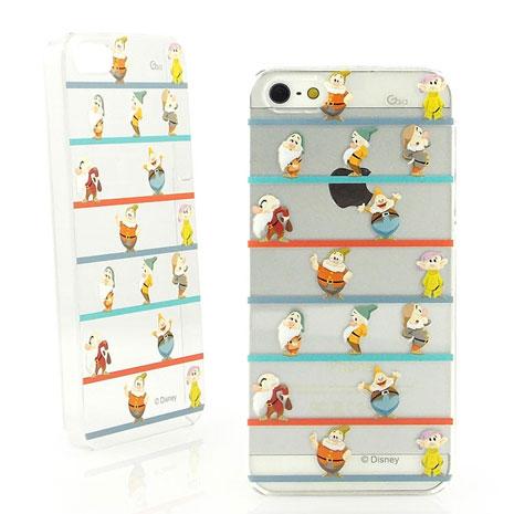 Disney iPhone 5/5s 彩繪可愛透明保護殼-七矮人